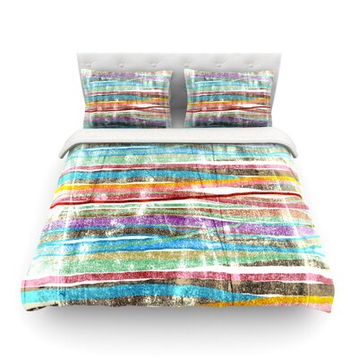 Fancy Stripes Light by Frederic Levy-Hadida Featherweight Duvet Cover Color: Light, Size: Twin