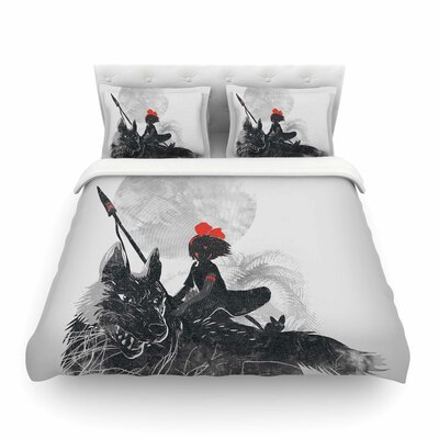 Princess Monokiki Fantasy Illustration by Frederic Levy-Hadida Featherweight Duvet Cover Size: King