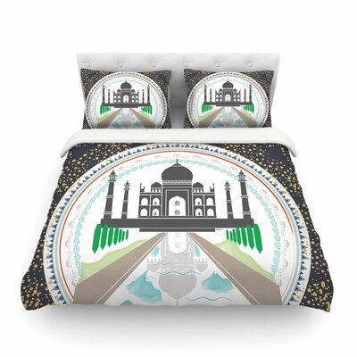 The Taj Mahal India by Famenxt Featherweight Duvet Cover Size: Full/Queen
