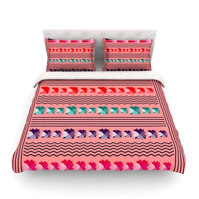 Romantic Love Pattern Abstract by Famenxt Featherweight Duvet Cover Size: King