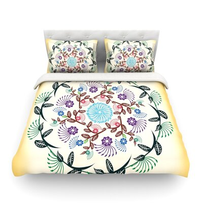 Nature Mandala by Famenxt Featherweight Duvet Cover Size: Twin