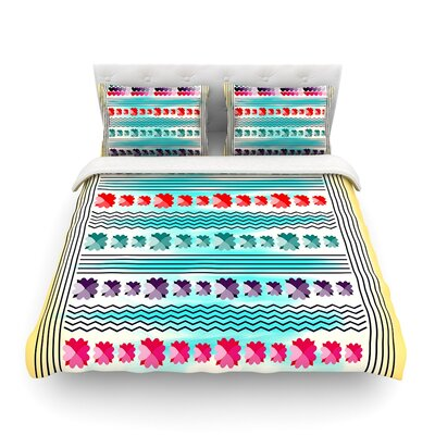 Love Pattern by Famenxt Featherweight Duvet Cover Size: Full/Queen