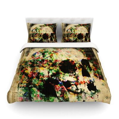 Floral Skully by Frederic Levy-Hadida Featherweight Duvet Cover Size: King
