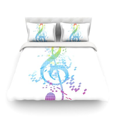 Rainbow Key Music by Frederic Levy-Hadida Featherweight Duvet Cover Size: Full/Queen