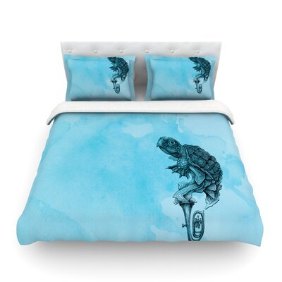 Turtle Tuba by Graham Curran Featherweight Duvet Cover Size: Full/Queen