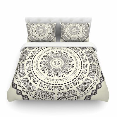 Swadesi Soft Boho Mandala Illustration by Famenxt Featherweight Duvet Cover Size: Full/Queen
