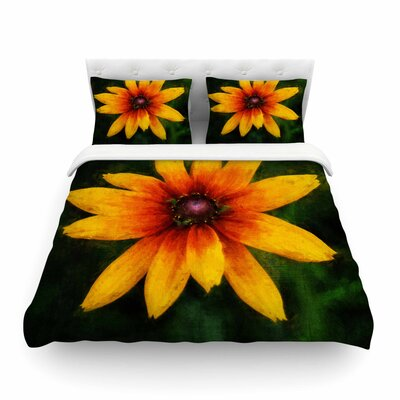 Wildflower in Sun Photography by Ginkelmier Featherweight Duvet Cover Size: Full/Queen