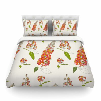 Barika Belva Coral Floral by Gukuuki Featherweight Duvet Cover Size: Full/Queen