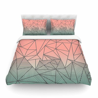 Bodhi Rays Geometric Illustration by Fimbis Featherweight Duvet Cover Size: Full/Queen