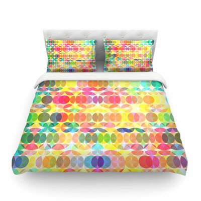 Sercuelartoo Geometric Circles by Fimbis Featherweight Duvet Cover Size: Twin