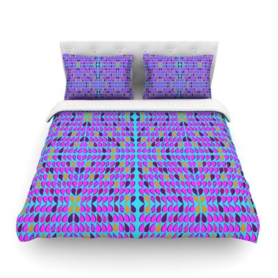 Optical Paisley by Fernanda Sternieri Featherweight Duvet Cover Size: King