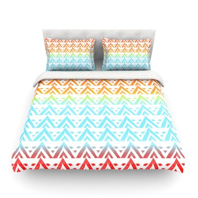 Antilops Pattern Chevron by Frederic Levy-Hadida Featherweight Duvet Cover Size: King