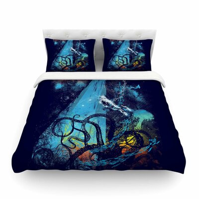 Danger from the Deep Underwater by Frederic Levy-Hadida Featherweight Duvet Cover Size: Twin