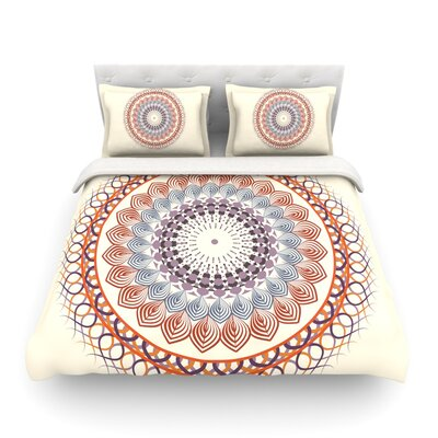 Vintage Mandala by Famenxt Featherweight Duvet Cover Size: King