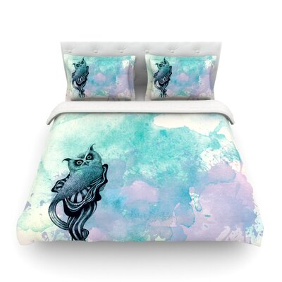 Owl by Graham Curran Featherweight Duvet Cover Size: Twin