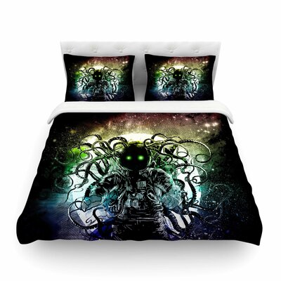 Terror From Deep Space by Frederic Levy-Hadida Featherweight Duvet Cover Size: Full/Queen