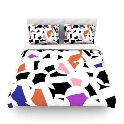 Geo Fun by Gabriela Fuente Featherweight Duvet Cover Size: Twin