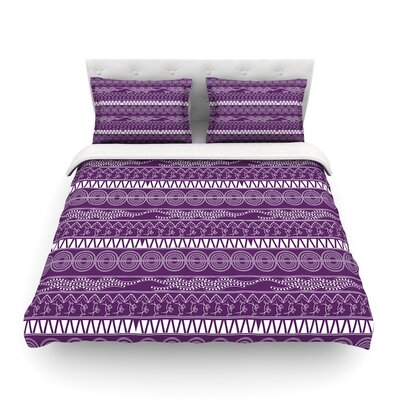 Pattern Lavander Abstrac by Famenxtt Featherweight Duvet Cover Size: Twin