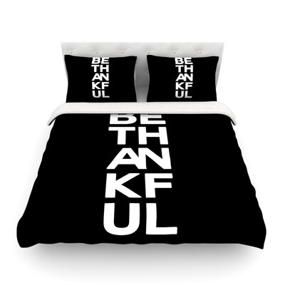 Be Thankful by Geordanna Cordero-Fieldsl Featherweight Duvet Cover Size: Twin