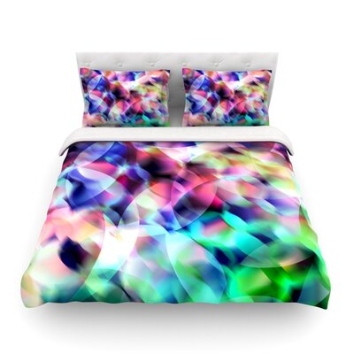 Party Pastel Abstract by Gabriela Fuente Featherweight Duvet Cover Size: Full/Queen