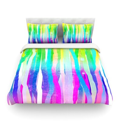 Jungle Stripes Painting by Frederic Levy-Hadida Featherweight Duvet Cover Size: Twin, Color: Pastel