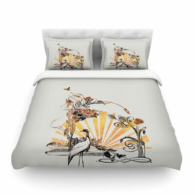 Art Nouveau Tune by Frederic Levy-Hadida Featherweight Duvet Cover Size: Full/Queen