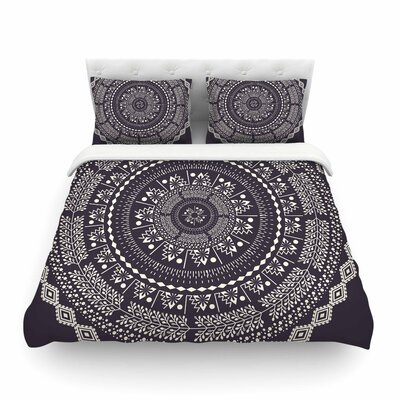Swadesi Boho Mandala Illustration by Famenxt Featherweight Duvet Cover Size: Twin