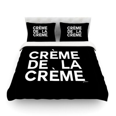 Creme De La Creme by Geordanna Cordero-Fields Featherweight Duvet Cover Size: King
