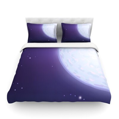 Full Moon Night Sky by Fotios Pavlopoulos Featherweight Duvet Cover Size: Full/Queen
