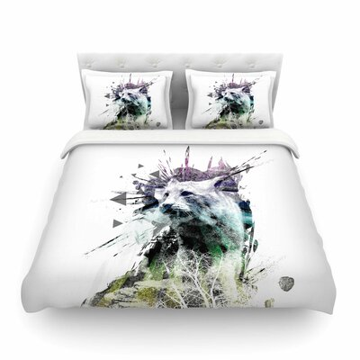 Art Name Cat by Frederic Levy-Hadida Featherweight Duvet Cover Size: Full/Queen