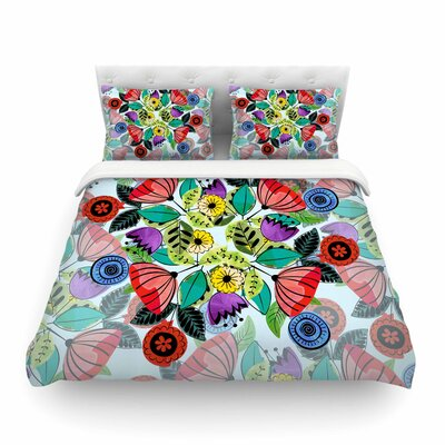 Fresh Spring Flowers Floral by Famenxt Featherweight Duvet Cover Size: Twin