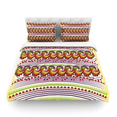 Colorful Traditional Pattern Digital by Famenxt  Featherweight Duvet Cover Size: King