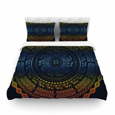 Night Queen Boho Mandala Illustration by Famenxt Featherweight Duvet Cover Size: King