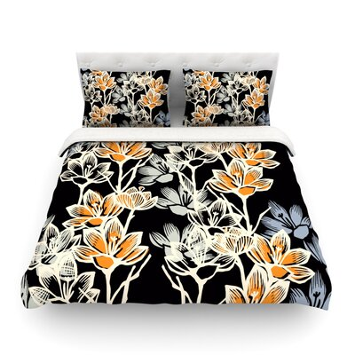 Crocus by Gill Eggleston Featherweight Duvet Cover Size: Twin
