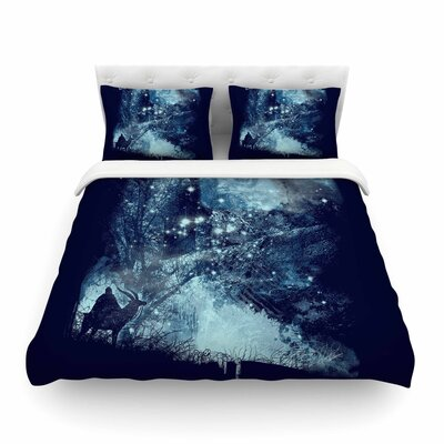 Forest Spirit Rising Fantasy by Frederic Levy-Hadida Featherweight Duvet Cover Size: Full/Queen