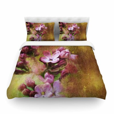 Lilacs Pink Floral by Ginkelmier Featherweight Duvet Cover Size: King