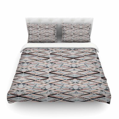 Move Beige Abstract by Fernanda Sternieri Featherweight Duvet Cover Size: Full/Queen