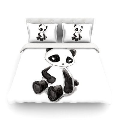 My Panda Sketch by Geordanna Cordero-Fields Featherweight Duvet Cover Size: King