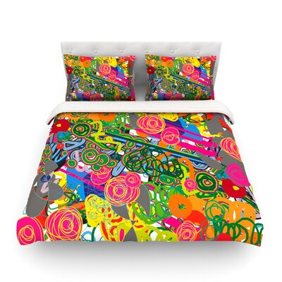 Psychedelic Garden by Frederic Levy-Hadida Featherweight Duvet Cover Size: Twin