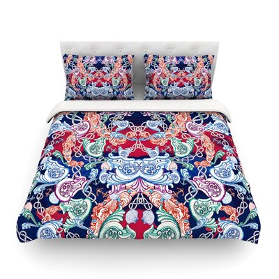 Barroque Sea Abstract by Fernanda Sternier Featherweight Duvet Cover Size: Full/Queen