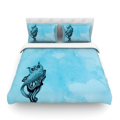 Owl by Graham Curran Featherweight Duvet Cover Size: Full/Queen