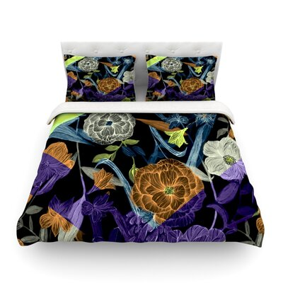 Wonder Dark Flower by Gabriela Fuente Featherweight Duvet Cover Size: Twin