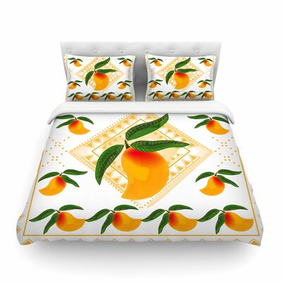 Fresh Farm Mangoes Orange Peach by Famenxt Featherweight Duvet Cover Size: Full/Queen