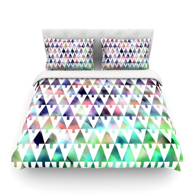 X-Mas Party Pastel Geometric by Gabriela Fuente Featherweight Duvet Cover Size: Full/Queen