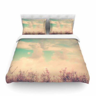 Spring Daydream Blue Nature by  Graphic Tabby Featherweight Duvet Cover Size: Full/Queen