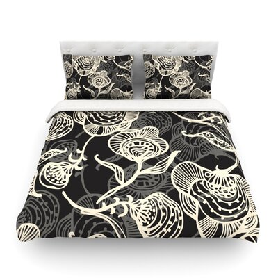 Future Nouveau Lite by  Gill Eggleston Featherweight Duvet Cover Color: Black/White, Size: King