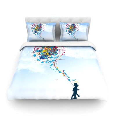 Child Creation Chronicle by Frederic Levy-Hadida Featherweight Duvet Cover Size: Full/Queen