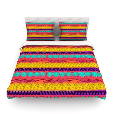 Pattern Watercolor Colorful Pattern by Famenxt Featherweight Duvet Cover Size: King