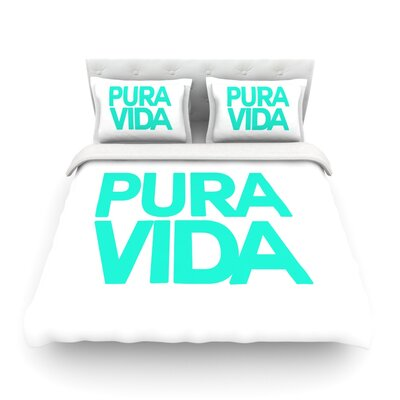 Pura Vida by Geordanna Cordero-Fields Featherweight Duvet Cover Size: King