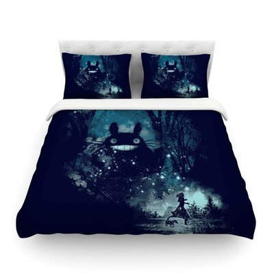 The Big Friend Fantasy by Frederic Levy-Hadida Featherweight Duvet Cover Size: King